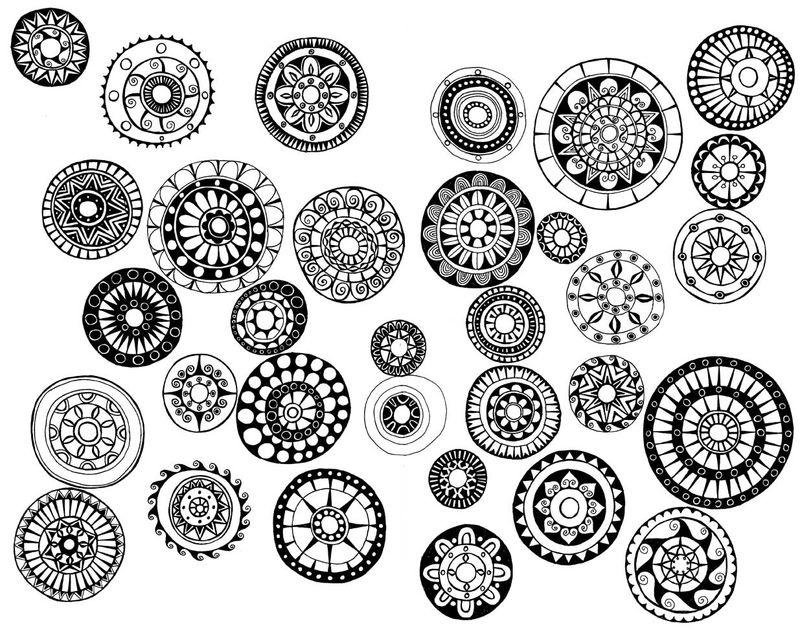Libreta De Dibujo Mandala Unicornio Papel Blanco: Miriam Badyrka Is The Doodler: Some Catch Up Doodles