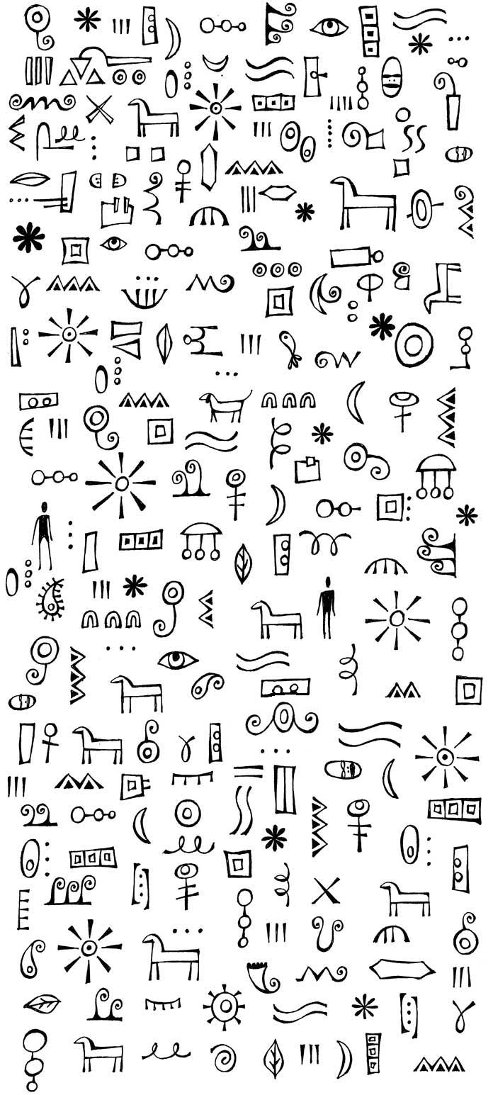 Miriam badyrka is the doodler imaginary alphabet doodles for Small drawing ideas